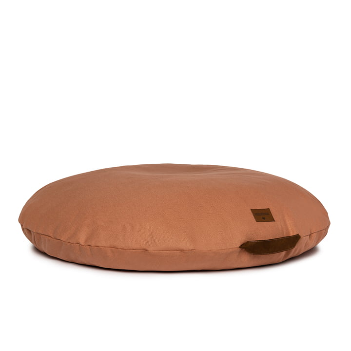 The Sahara child seat bag from Nobodinoz in sienna brown