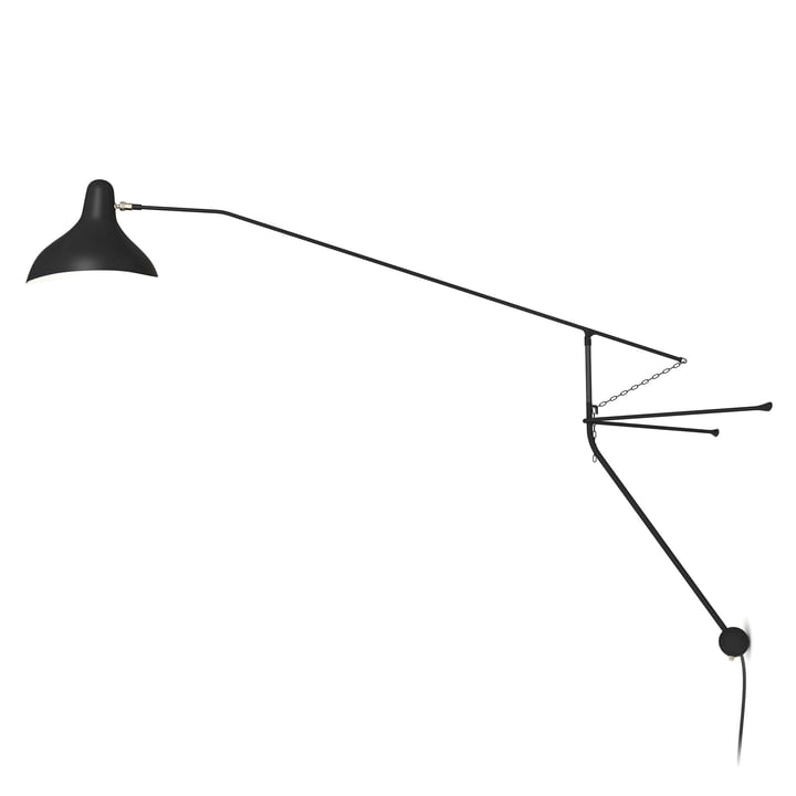 Mantis BS2 wall lamp, black from DCW