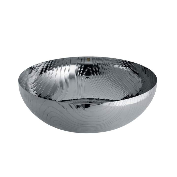 The Veneer bowl from Alessi in stainless steel with relief decoration, Ø 29 cm
