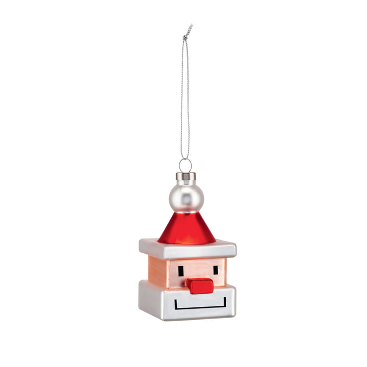 The Santa Cube Christmas tree decorations from Alessi