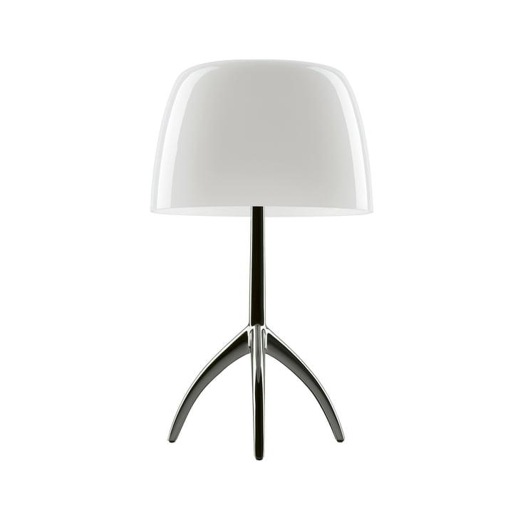 Foscarini - Lumiere 05 Grande table lamp with dimmer, aluminium / white
