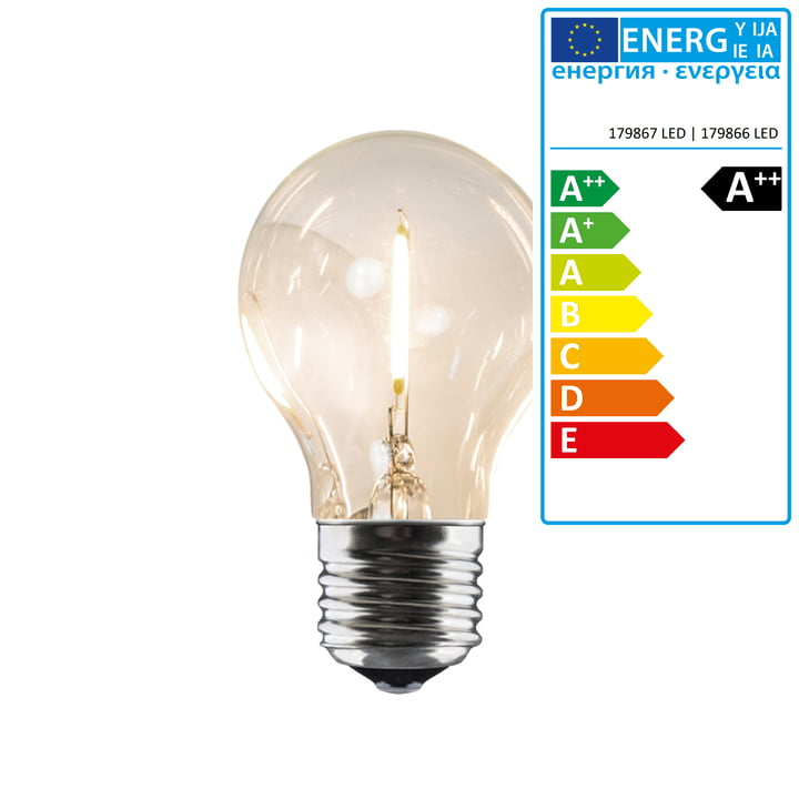 Collection - Replacement bulb for LED light chain indoor/outdoor (IP 44), 10 lamps round, cable black