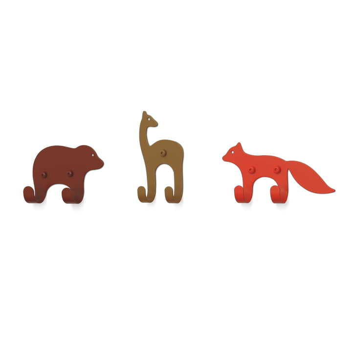 The wall hooks Zoo from vonbox, Forest (set of 3)