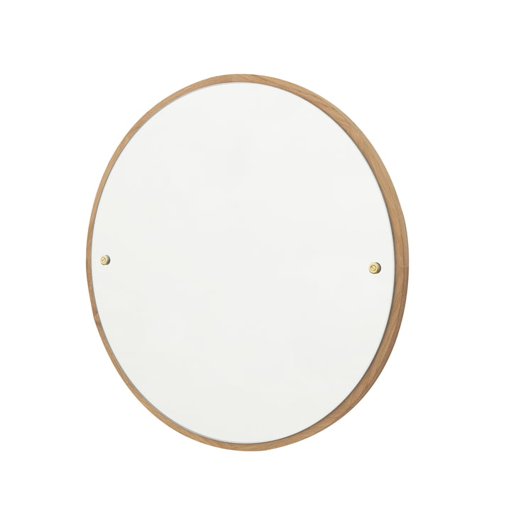 CM-1 Circle Wall mirror Ø 45 cm, oak oiled by Frama