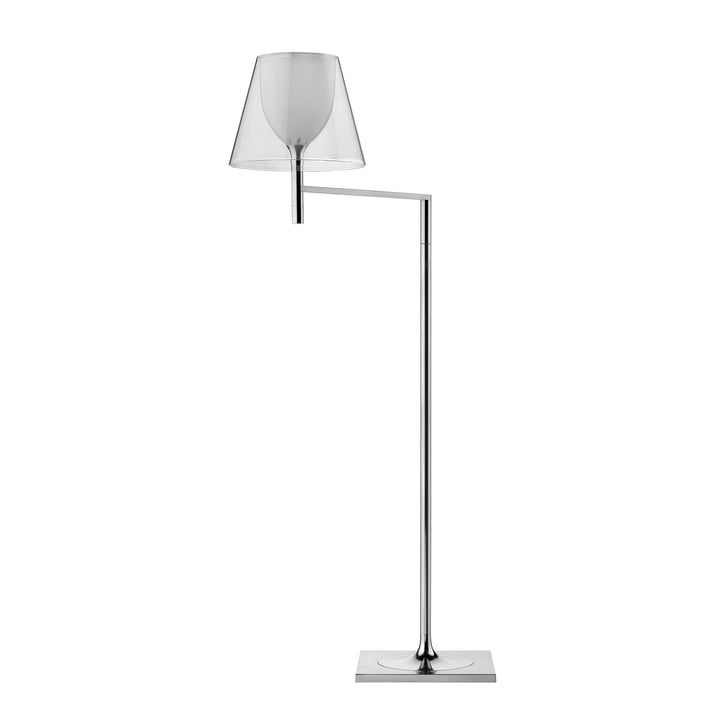 The K Tribe F1 floor lamp from Flos with transparent shade