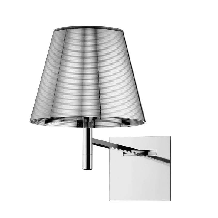 The K Tribe wall light from Flos in aluminised silver