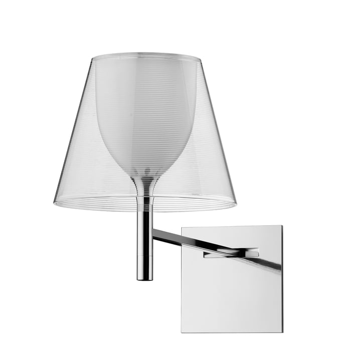 The K Tribe wall light from Flos in transparent