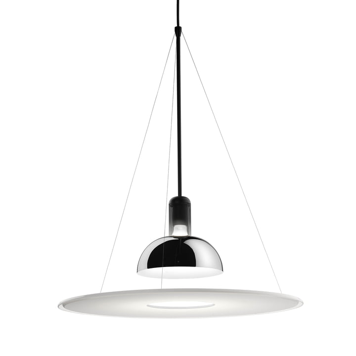 The Frisbi pendant light from Flos in chrome
