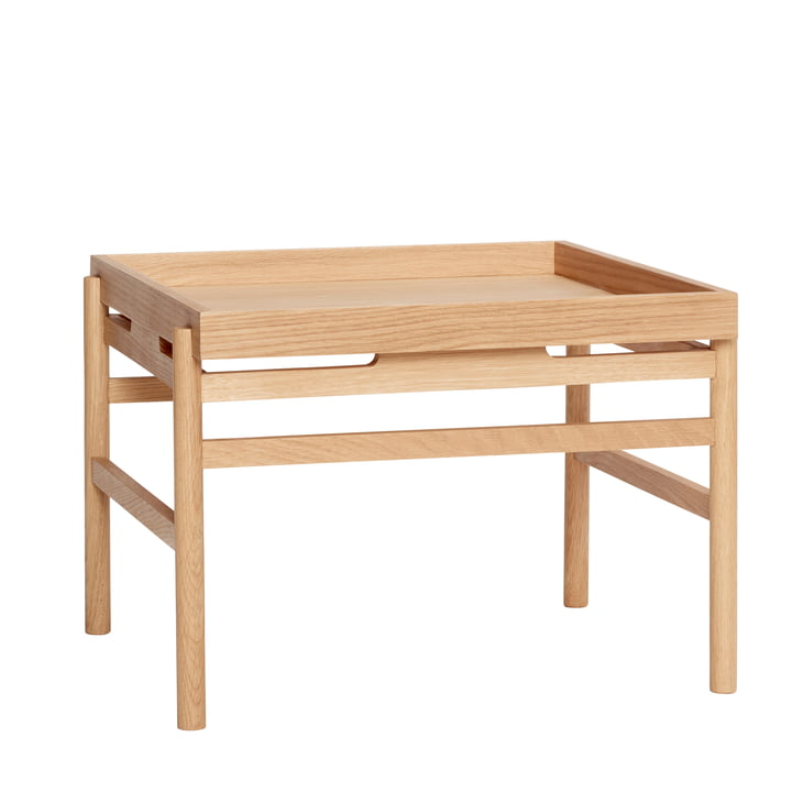 Coffee table with tray rack, oak, natural from Hübsch Interior