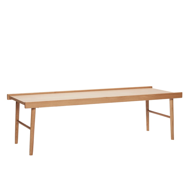 Coffee table with edges, oak, natural from Hübsch Interior