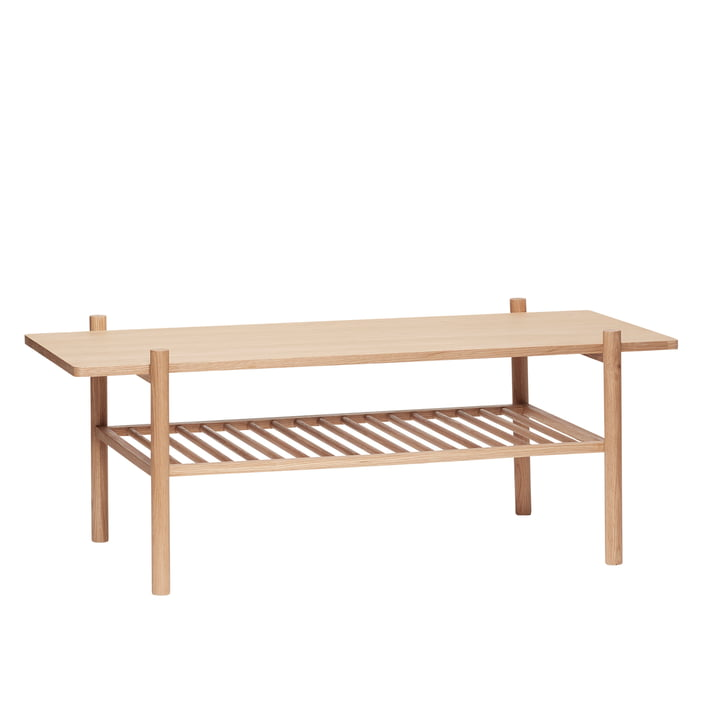 Coffee table with shelf, oak, natural from Hübsch Interior