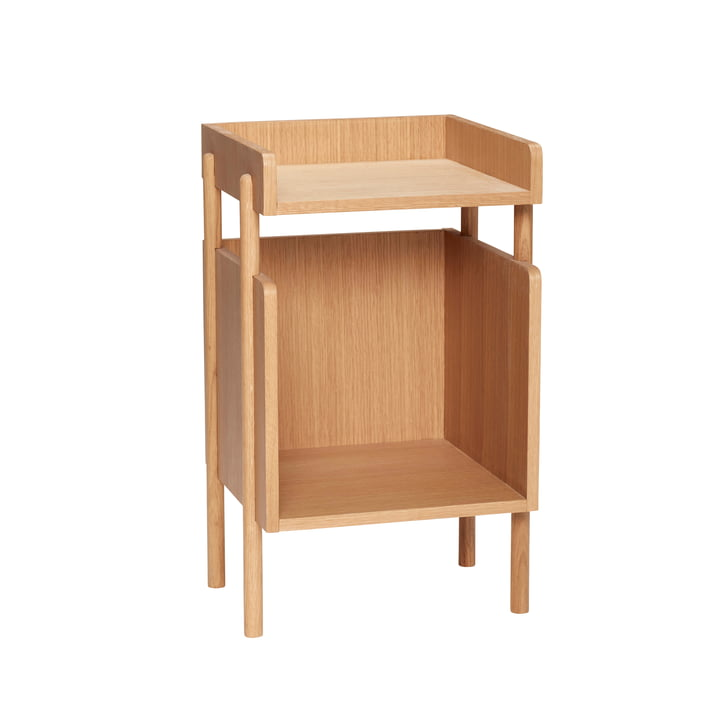 Side table with shelf, oak, natural from Hübsch Interior
