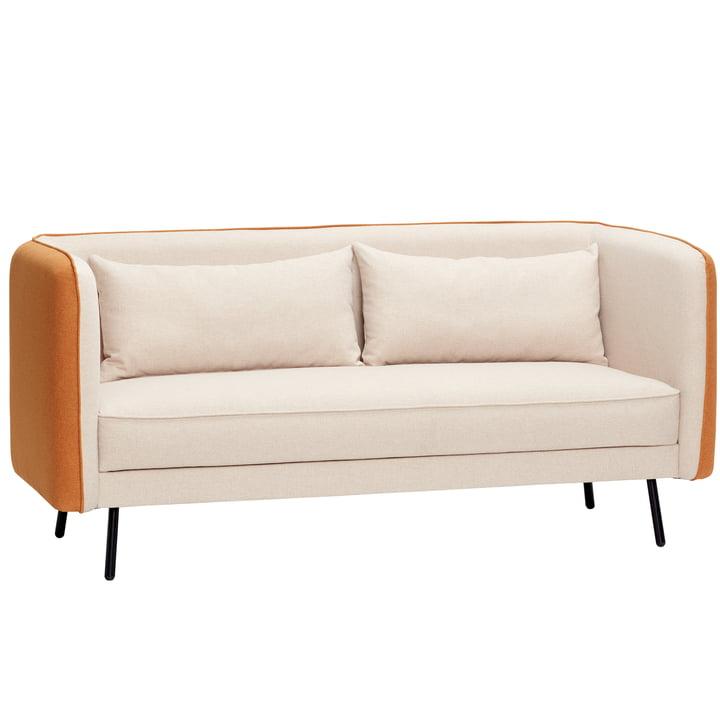 2-seater sofa, beige/orange from Hübsch Interior