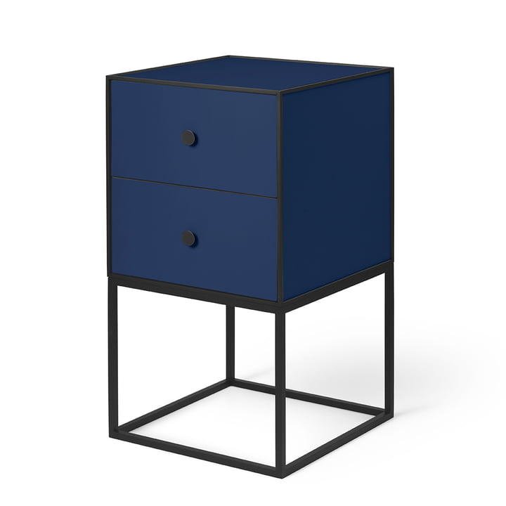 Frame Sideboard 35 (incl. 2 drawers), dark blue from by Lassen