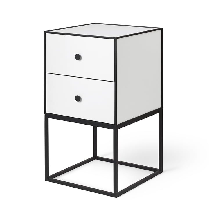 Frame Sideboard 35 (incl. 2 drawers), white from by Lassen