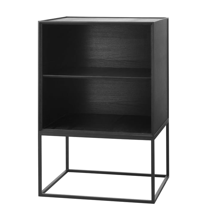 Frame Sideboard 49 (incl. shelf), ash black stained by by Lassen