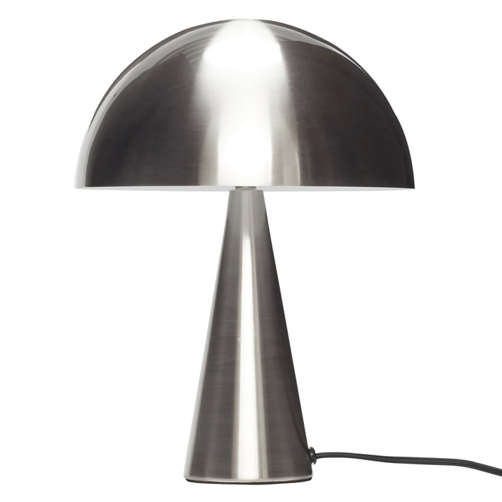 Table lamp, silver nickel-plated, small from Hübsch Interior
