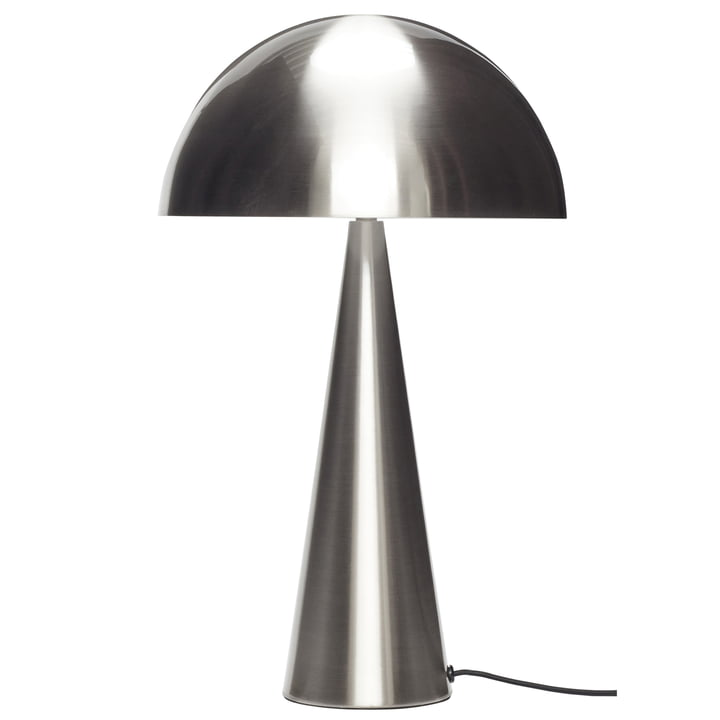 Table lamp, silver nickel-plated, large from Hübsch Interior
