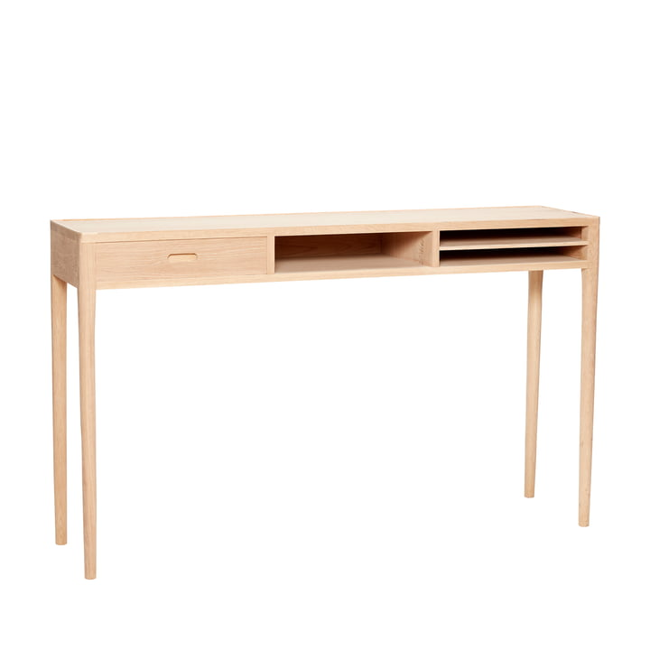 Console with shelves, oak, natural from Hübsch Interior