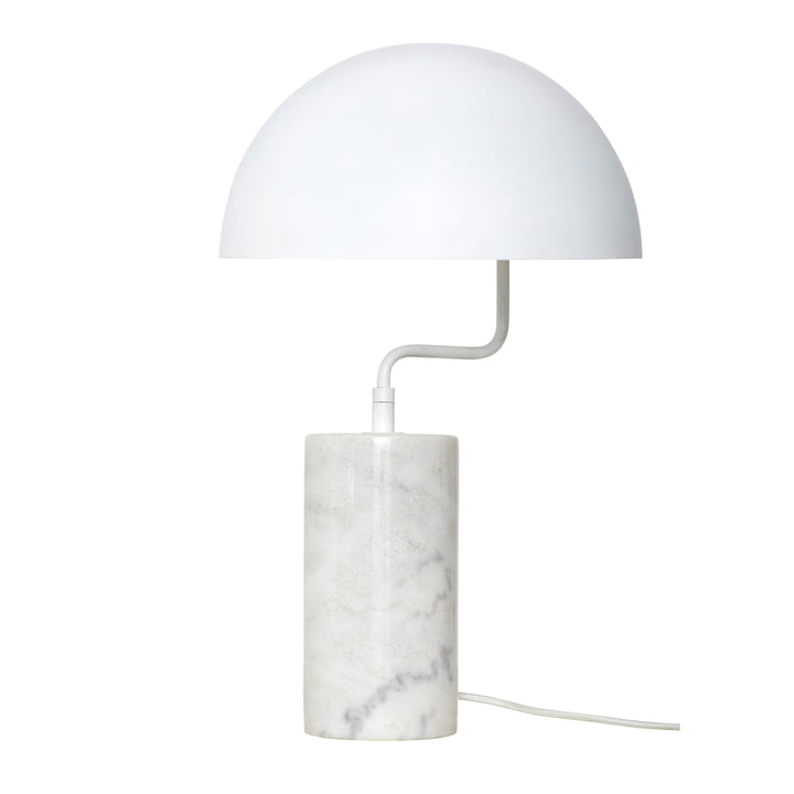 Marble table lamp, white from Hübsch Interior