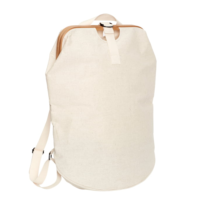 Laundry bag, beige / nature from Hübsch Interior