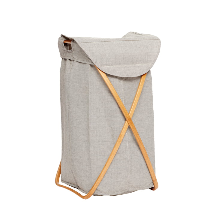 The laundry basket from Hübsch Interior in grey
