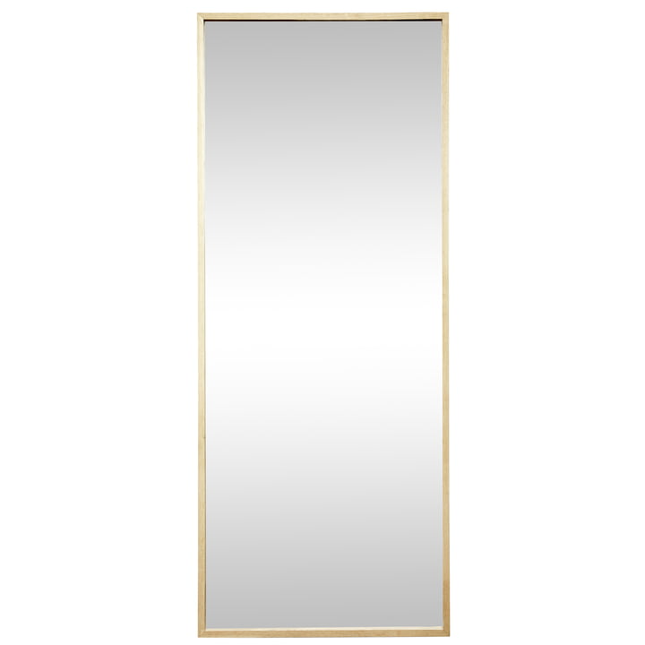 The wall mirror rectangular from Hübsch Interior with oak frame
