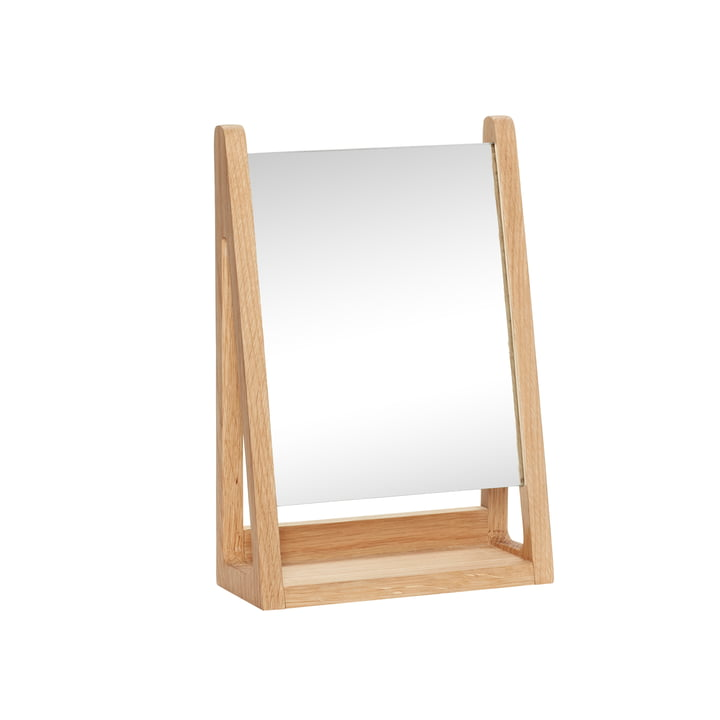 The table mirror from Hübsch Interior in oak, nature