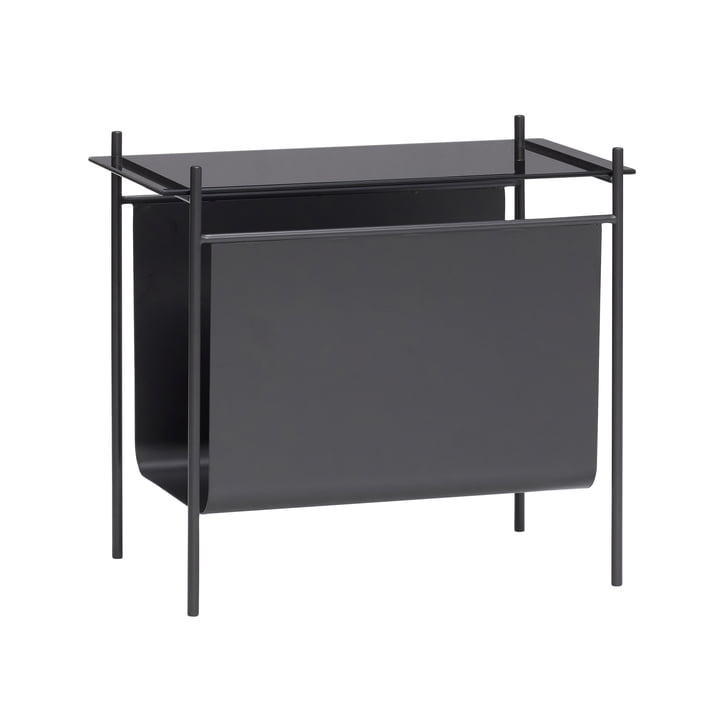 The table with magazine holder from Hübsch Interior in black