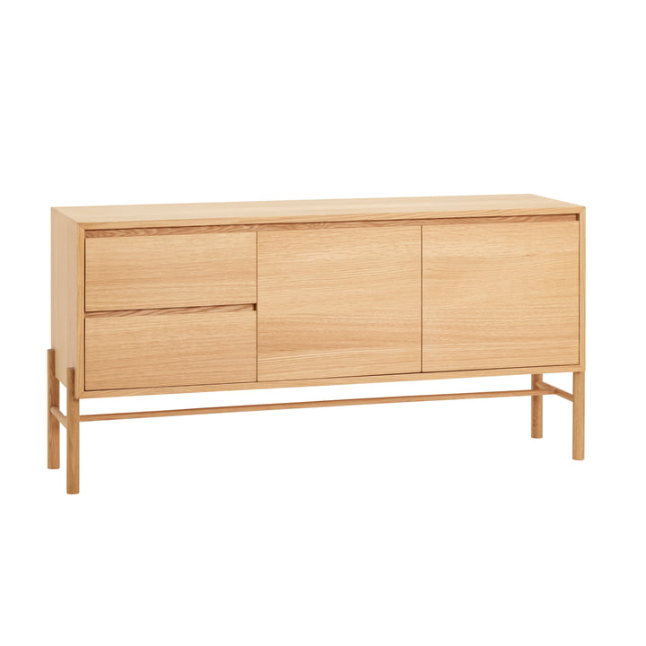 The sideboard from Hübsch Interior with 4 compartments, oak, nature