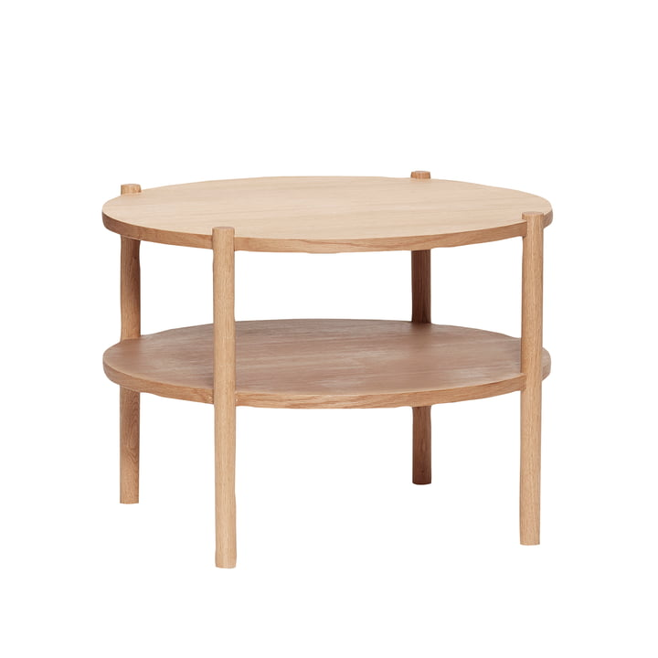 The round coffee table with shelf from Hübsch Interior in oak, nature