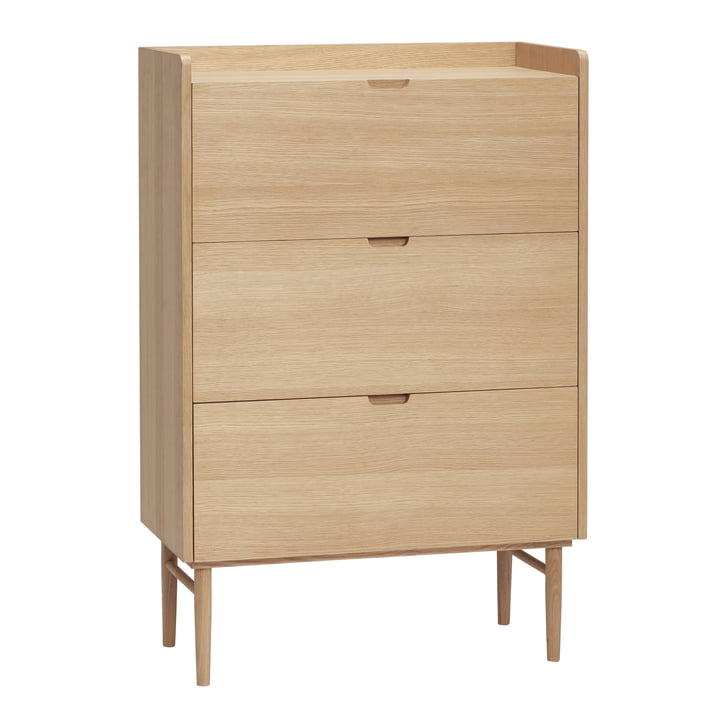 chest of drawers with 3 drawers, oak, natural from Hübsch