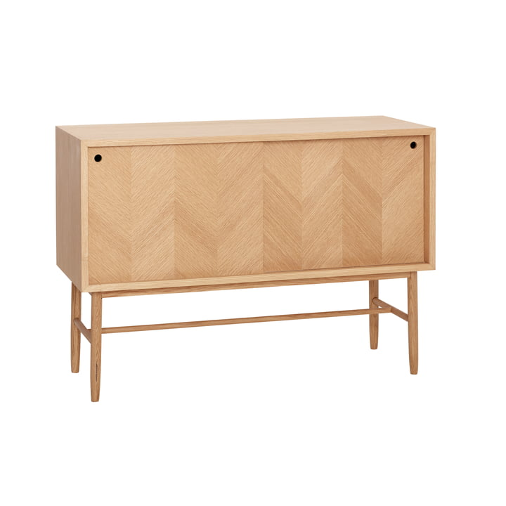 chest of drawers with sliding doors, oak, natural from Hübsch Interior