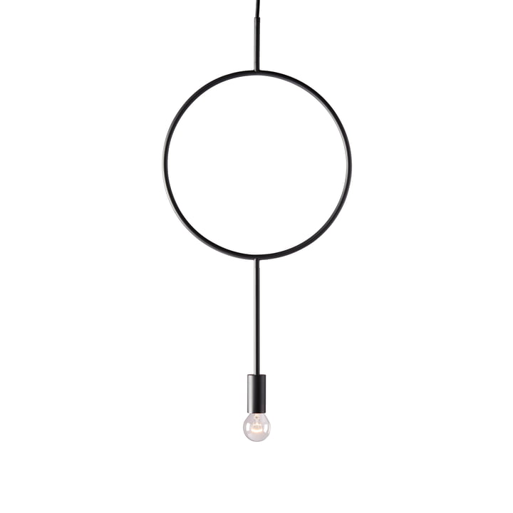 The Circle pendant luminaire from Northern in dark grey matt