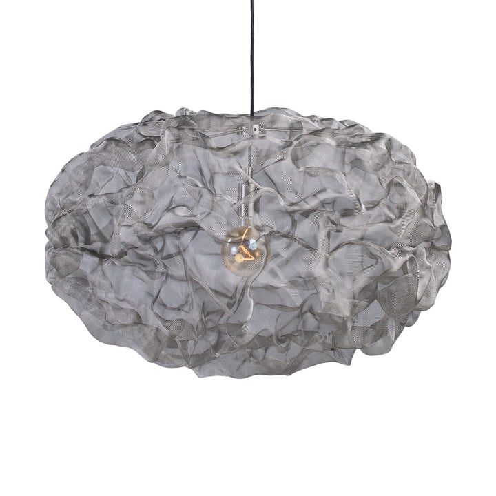 Heat Mesh pendant light, large / stainless steel by Northern