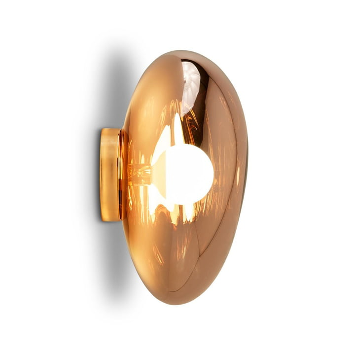 Melt Surface ceiling lamp by Tom Dixon in copper