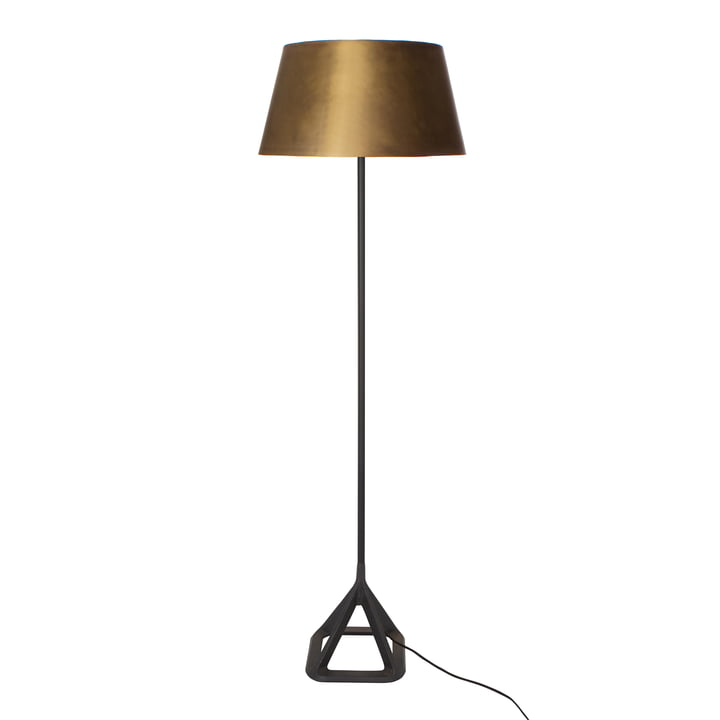 Base Floor Light by Tom Dixon in brushed brass