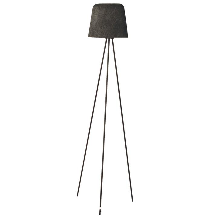 Felt Shade floor lamp by Tom Dixon in grey