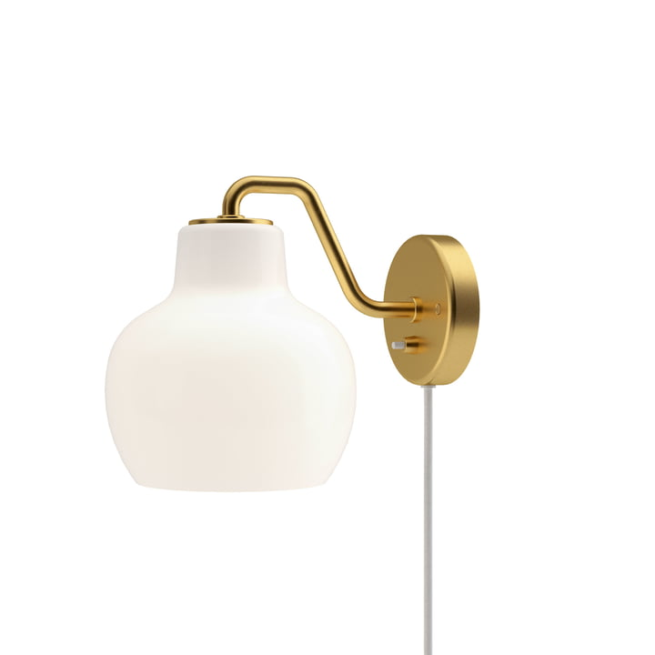 VL Ring Crown 1 wall lamp by Louis Poulsen in brass / white