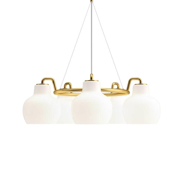 VL Ring Crown 5 chandelier by Louis Poulsen in brass / white