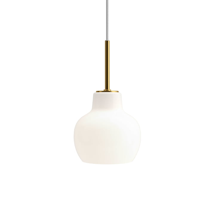 VL Ring Crown 1 pendant lamp by Louis Poulsen in brass / white