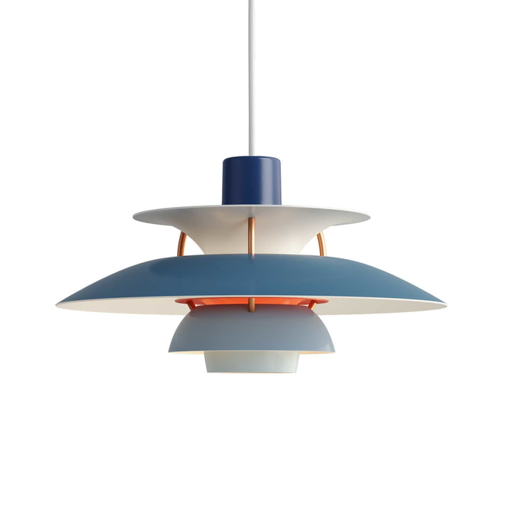 The Louis Poulsen - PH 5 Mini Pendant Lamp in Blue