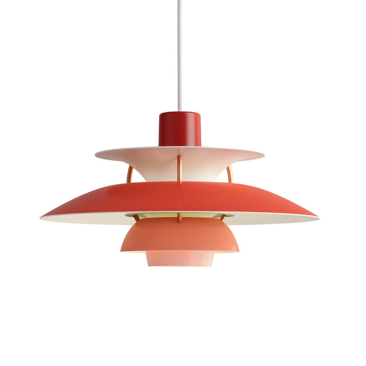The Louis Poulsen - PH 5 Mini Pendant Lamp in Red