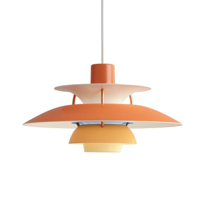 The Louis Poulsen - PH 5 Mini Pendant Lamp in Orange