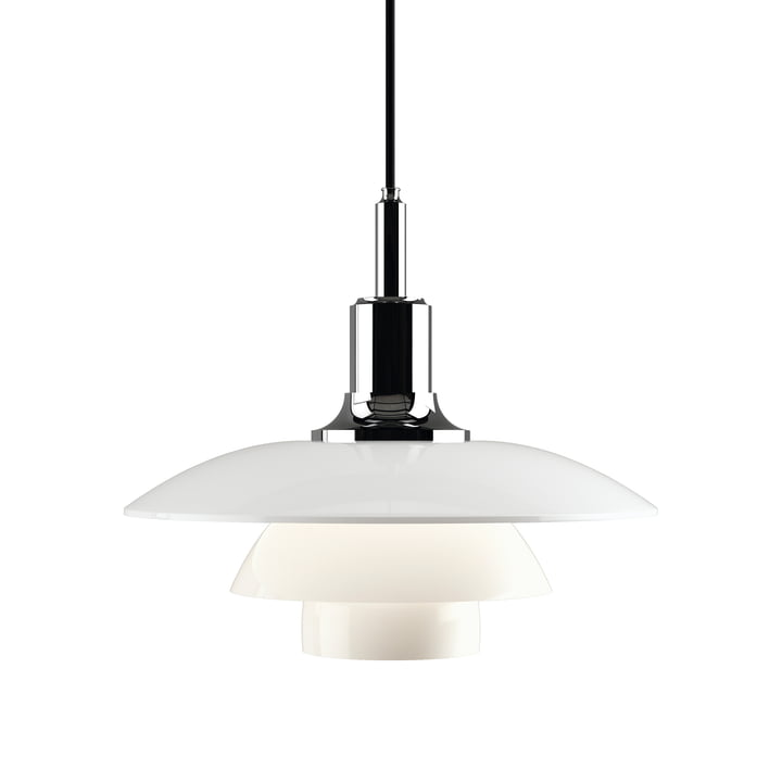 PH 3 ½ - 3 Pendant Lamp by Louis Poulsen, high gloss chrome plated
