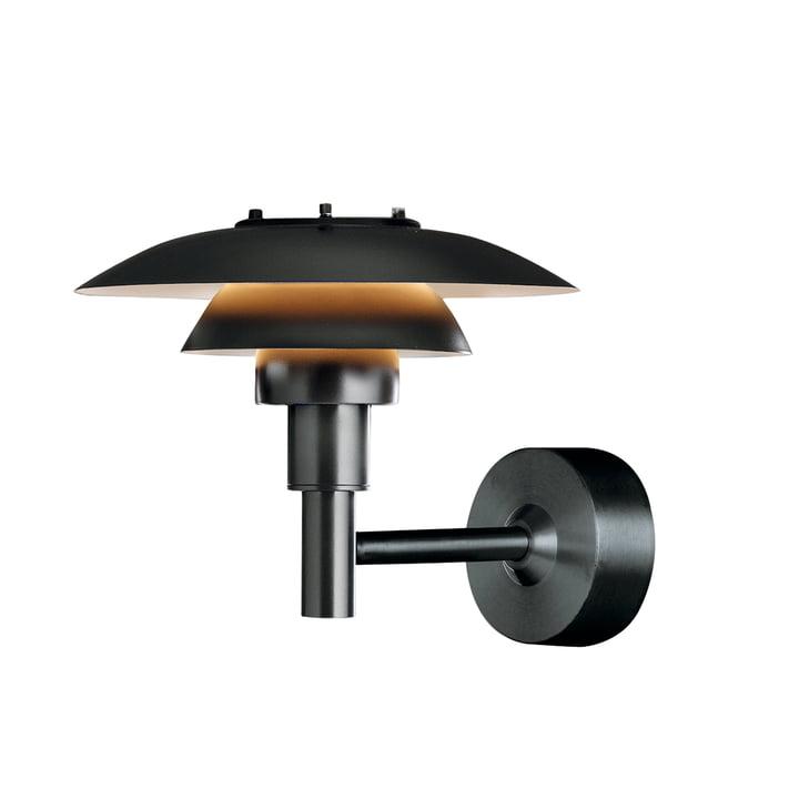 PH 3-2½ Wall Lamp (Outdoor) by Louis Poulsen in black
