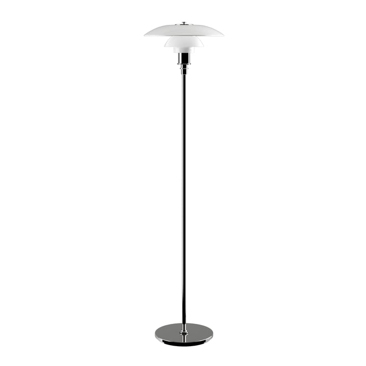 PH 3½-2½ Floor lamp by Louis Poulsen in high-gloss chrome