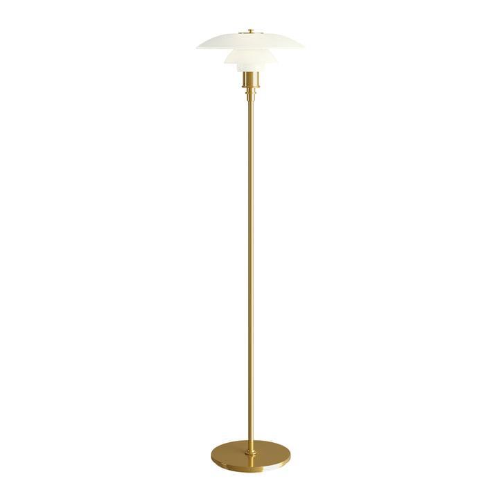 PH 2½-2½ Floor lamp in brass by Louis Poulsen