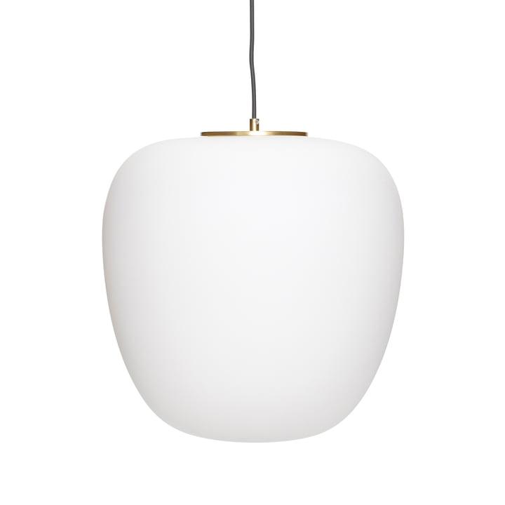 The glass pendant lamp from Hübsch Interior in white / brass, Ø 40 cm, H 40 cm