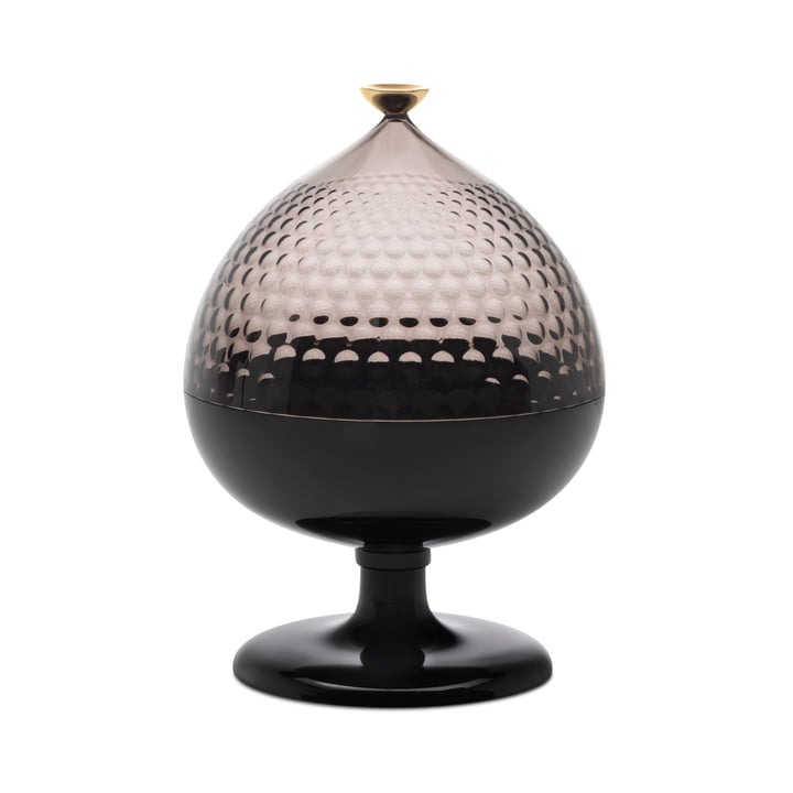 Pumo Storage glass, Ø 21 cm, black / fumè from Kartell